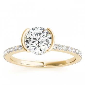 Semi-Bezel Setting Bridal Set 18k Yellow Gold (0.56ct)