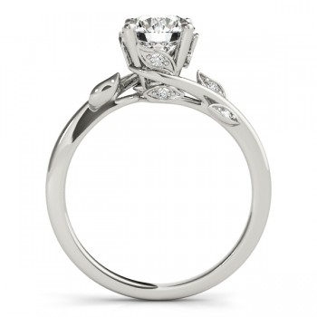 Byapss Floral Diamond Floral Engagement Ring 14k White Gold (0.10ct)