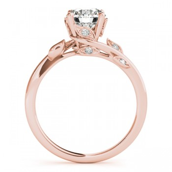 Bypass Floral Diamond Engagement Ring 18k Rose Gold (0.10ct)