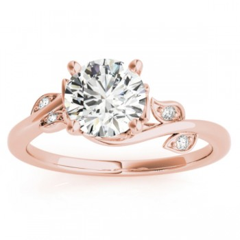 Bypass Floral Diamond Bridal Set Setting 18k Rose Gold (0.15ct)