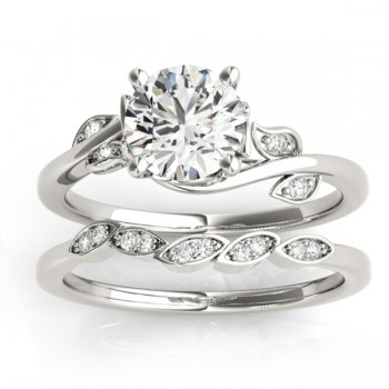 Bypass Floral Diamond Bridal Set Setting Platinum (0.15ct)
