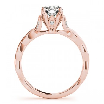 Infinity Leaf Engagement Ring 14k Rose Gold (0.07ct)