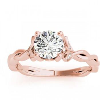 Infinity Leaf Engagement Ring 18k Rose Gold (0.07ct)