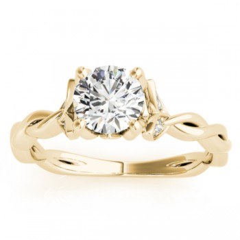 Infinity Leaf Engagement Ring 18k Yellow Gold (0.07ct)