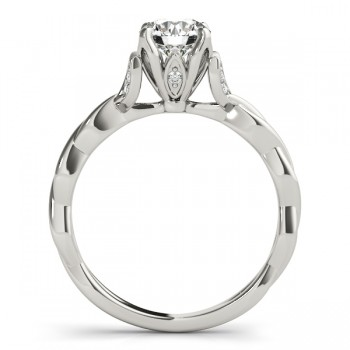 Infinity Leaf Engagement Ring Palladium (0.07ct)