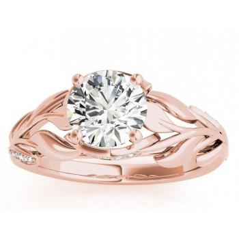 Nature-Inspired Diamond Engagement Ring Setting 14k Yellow Gold (0.16ct)