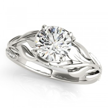 Nature Inspired Diamond Engagement Ring Setting Palladium (0.16ct)