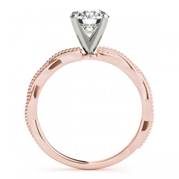 Infinity Solitaire Twist Engagement Ring Setting 14k Rose Gold