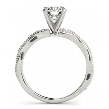 Infinity Solitaire Twist Engagement Ring Setting palladium