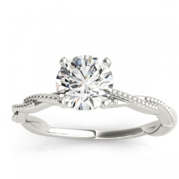 Infinity Solitaire Twist Engagement Ring Setting Platinum