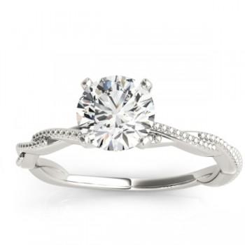 Solitaire Twist Engagement Ring & Wedding Band Platinum