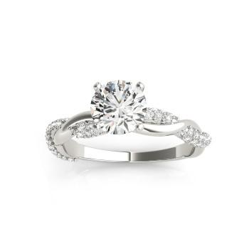 Vine Leaf Infinity Diamond Engagement Ring Setting Palladium (0.40ct)