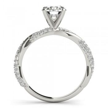 Vine Leaf Infinity Diamond Bridal Set Palladium (0.80 ct)