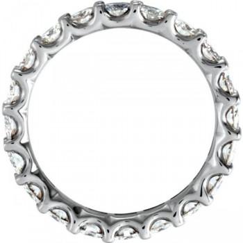 Round Moissanite Eternity Ring Anniversary Band 14K White Gold 3.00ctw