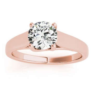Lucida Solitaire Cathedral Engagement Ring 18k Rose Gold