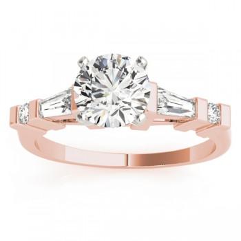 Diamond Tapered Baguette Engagement Ring 18k Rose Gold (0.33ct)