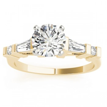 Diamond Tapered Baguette Engagement Ring 18k Yellow Gold (0.33ct)