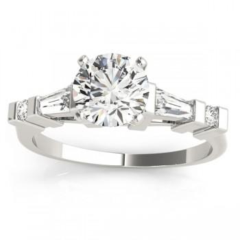 Diamond Tapered Baguette Engagement Ring Setting Palladium (0.33ct)