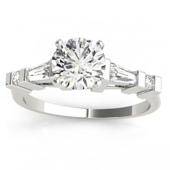 Diamond Tapered Baguette Engagement Ring Setting Platinum (0.33ct)