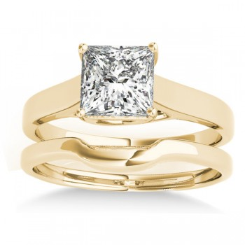 Solitaire Bridal Set 18k Yellow Gold