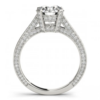Diamond Accented Engagement Ring 14k White Gold (0.87ct)