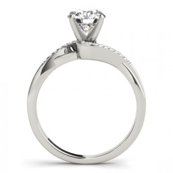 Diamond Twisted Bypass Engagement Ring 14k White Gold (0.09ct)