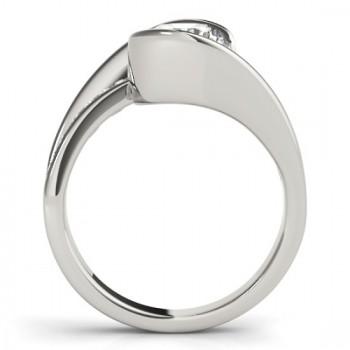 Diamond Tension Set Engagement Ring Setting 18K White Gold (0.19ct)