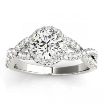 Diamond Decked Two Sided Infity Shape Engagement Ring Setting Palladium (0.52ct)