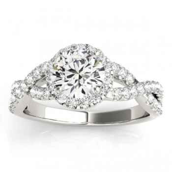 Diamond Decked Two Sided Infity Shape Engagement Ring Setting Platinum (0.52ct)