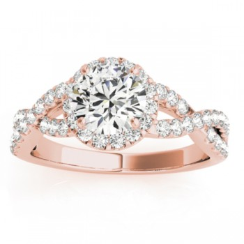 Diamond Bridal Set Setting 14k Rose Gold (0.73ct)