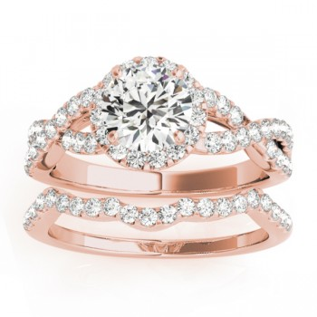 Diamond Bridal Set Setting 18k Rose Gold (0.73ct)
