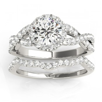 Diamond Bridal Set Setting Platinum (0.73ct)