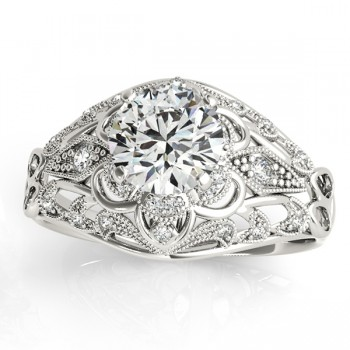 Vintage Art Deco Diamond Engagement Ring Setting  0.20ct