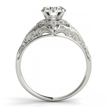 Vintage Art Deco Diamond Engagement Ring Setting Platinum 0.20ct