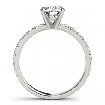 Diamond Single Row Engagement Ring 14kt White Gold (0.32ct)