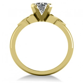 Celtic Love Knot Solitaire Engagement Ring Setting 14k Yellow Gold