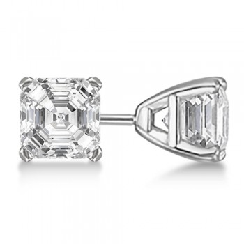 Asscher-Cut Diamond Stud Earrings