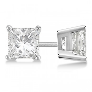 Princess-Cut Lab Grown Diamond Stud Earrings