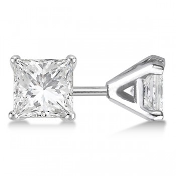 Princess-Cut Martini Diamond Stud Earrings