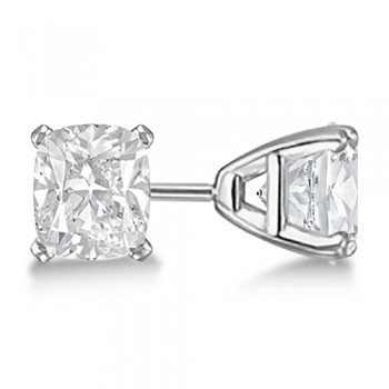 Cushion-Cut Diamond Stud Earrings