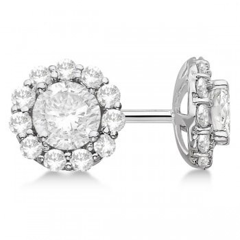 Halo Lab Grown Diamond Stud Earrings