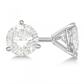 3-Prong Martini Round-Cut Lab Grown Diamond Stud Earrings