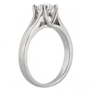 Double Prong Trellis Engagement Ring Palladium Setting