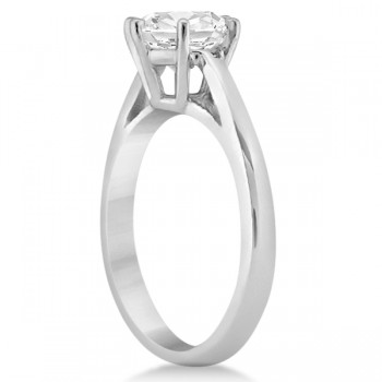Six-Prong Platinum Solitaire Engagement Ring Setting