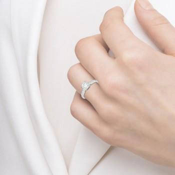 Cathedral Pave Diamond Engagement Ring Setting Palladium (0.20ct)