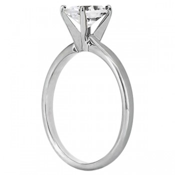 Four-Prong Palladium Solitaire Engagement Ring Setting