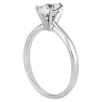 Six-Prong 18k White Gold Engagement Ring Solitaire Setting