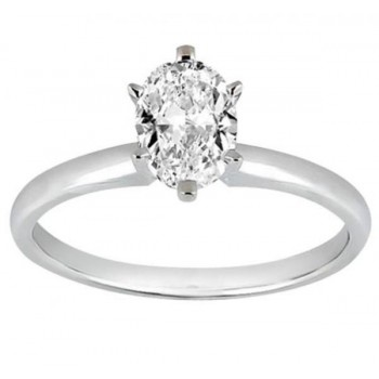 Six-Prong Palladium Engagement Ring Solitaire Setting