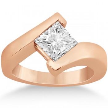 Princess Cut Tension Set Engagement Ring Setting 14k Rose Gold