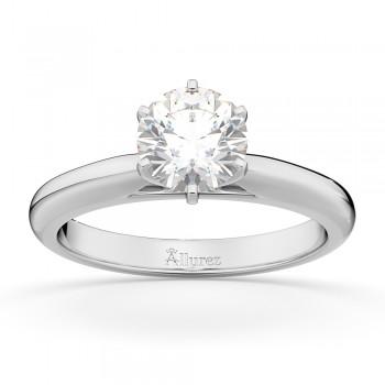 Six-Prong Palladium Solitaire Engagement Ring Setting